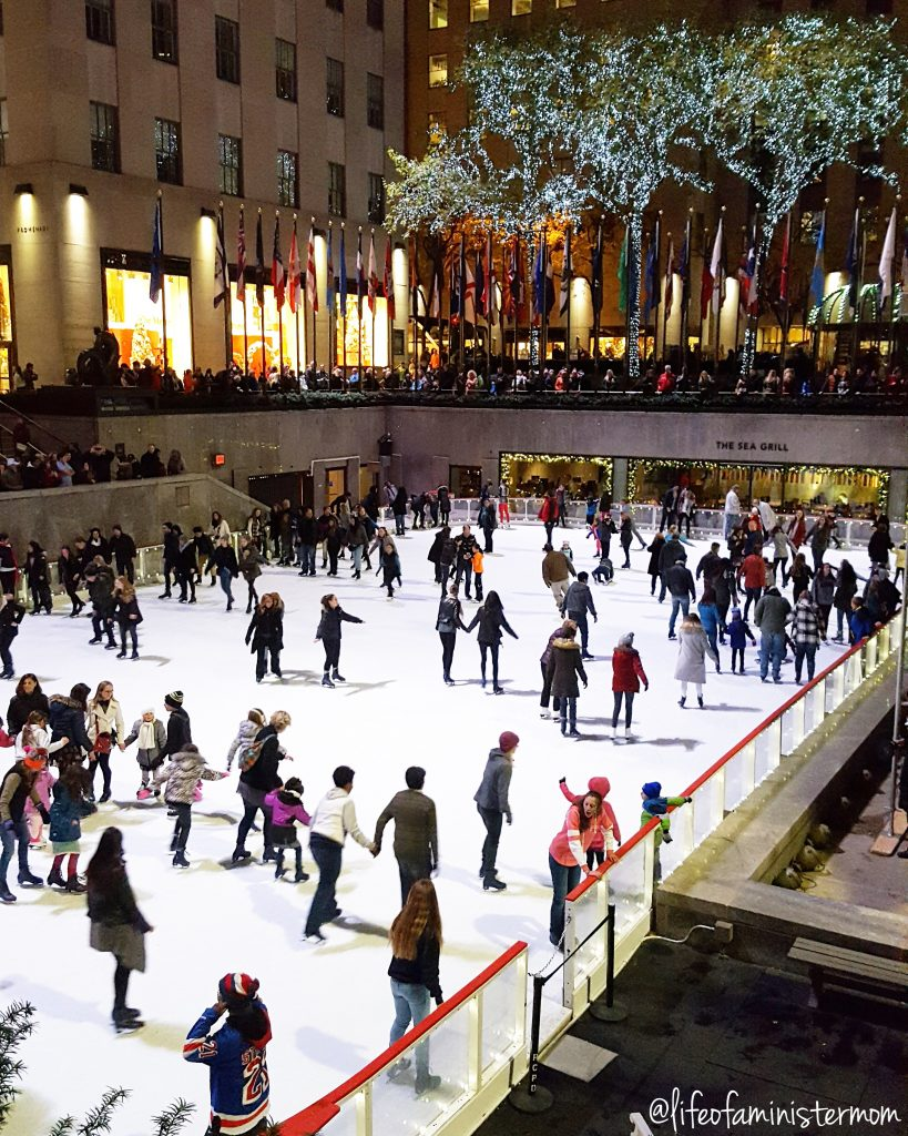 Ice skating at Rockefeller Center